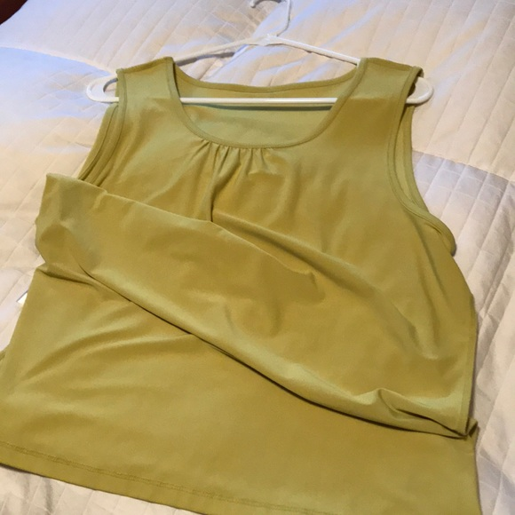 Christopher & Banks Tops - Chartreuse tank